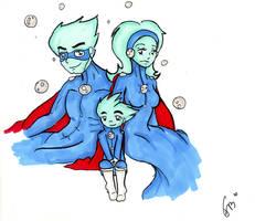 Pajama hero family by MoonyDash