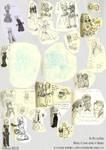 Jenna, Nie and CO (HUGE sketchdump) by MoonyDash
