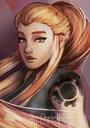 Overwatch's Brigitte by ChrisN-Art
