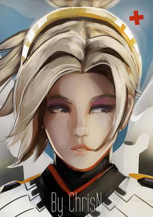 Overwatch's Mercy by ChrisN-Art
