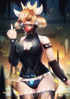 Virgin Killer - Bowsette :: Super Mario Bros by ChrisN-Art