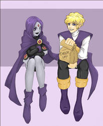 Raven/Jericho +Teen Titans+ by doodlekitten