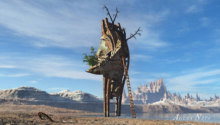 Jargosk the surreal tree house by the-first-seer