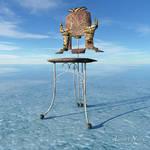 surreal chair II / Blender and  Terragen 4
