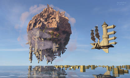 Agantus floating Castle by the-first-seer