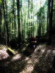 The thinker in the forest by AguraNata