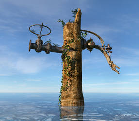 surreal tree trunk pump