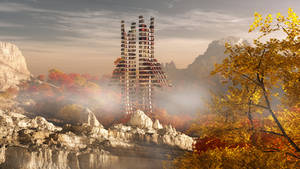 Fractal in the autumn mood