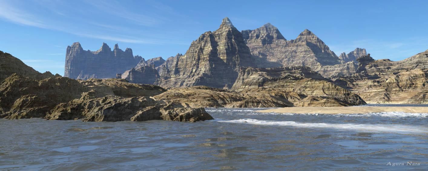 The island of the steep cliffs by AguraNata