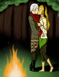 Bonfire. (Commission) by Pink--Reptile