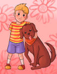 (Mother 3) Lucas and Smarty.