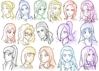 Oc Sketch Dump 2 (Commission) by Pink--Reptile