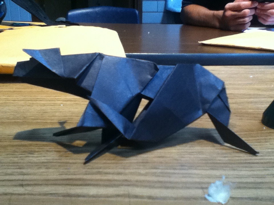origami panther by lucymidnight96 on deviantart