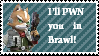 Fox McCloud SS-Brawl stamp by newperson3245234