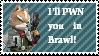 Fox McCloud SS-Brawl stamp by newperson3245234