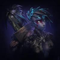 Guild Wars 2 Portrait Commissions - Sylvari Couple by jylgeartooth