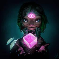 Guild Wars 2 Portrait Commissions - Asura Mesmer