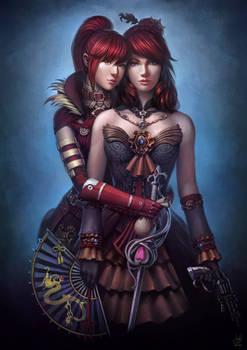 Guild Wars 2 Commission - Anna and Rua