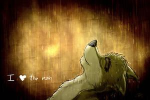 I love the rain by lobowupp