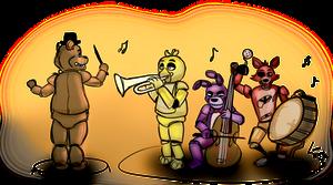 Freddy's Orchestra sketch by lobowupp