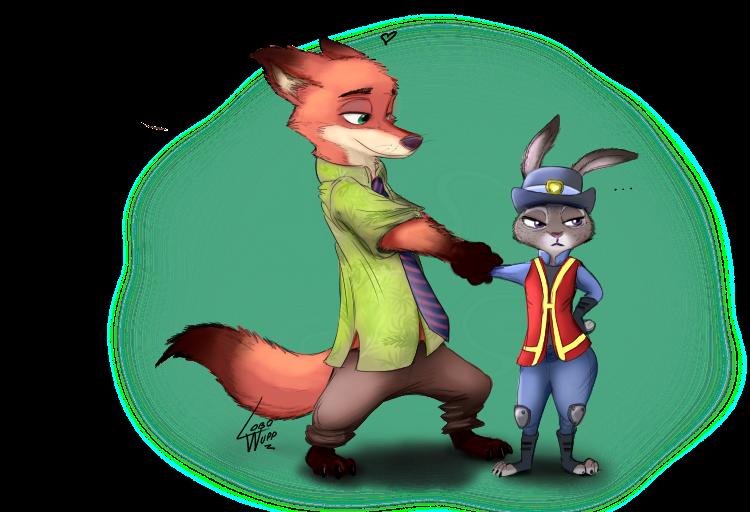 Nick Wilde y Judy Hopps by lobowupp