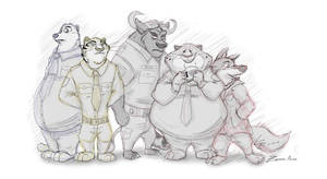 Zootopia Police (Sketch)
