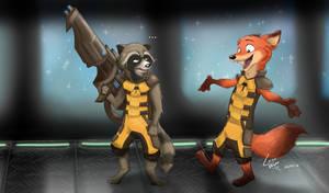 Rocket Raccoon y Rocket Fox (?)