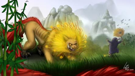 Zouwu and Niffler - Fanstastic Beast by lobowupp