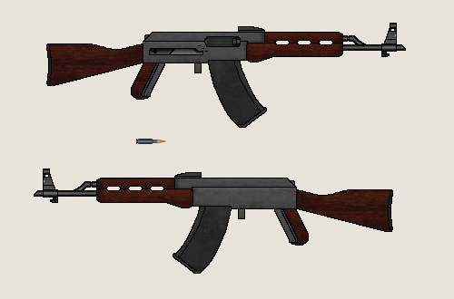 Avtomat Kilment AK-72 Assault Rifle by Dreamlander4chan