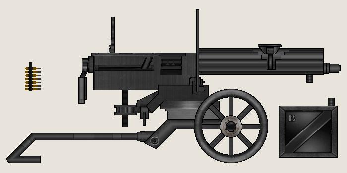 KDP-71 Heavy Machine Gun (on Sverdlovsk Mount) by Dreamlander4chan