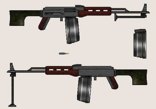 RPD-72 Light Machine Gun by Dreamlander4chan