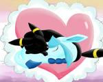 UmbreonxGlaceon-Snuggle Love