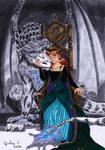 Elsanna commission n.11 Dragon queen by shishiyoukai