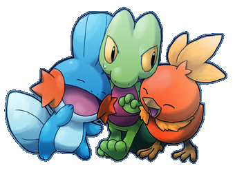 Hoenn Starters by FireBuck on DeviantArt