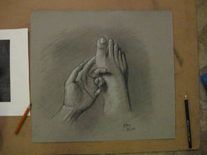 Foot and Hand - Charcoal