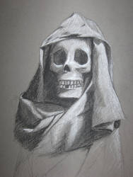 Cloth and Skull - Charcoal