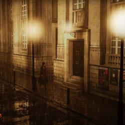 Lone Walk at Night by Ryselle-Ryssa