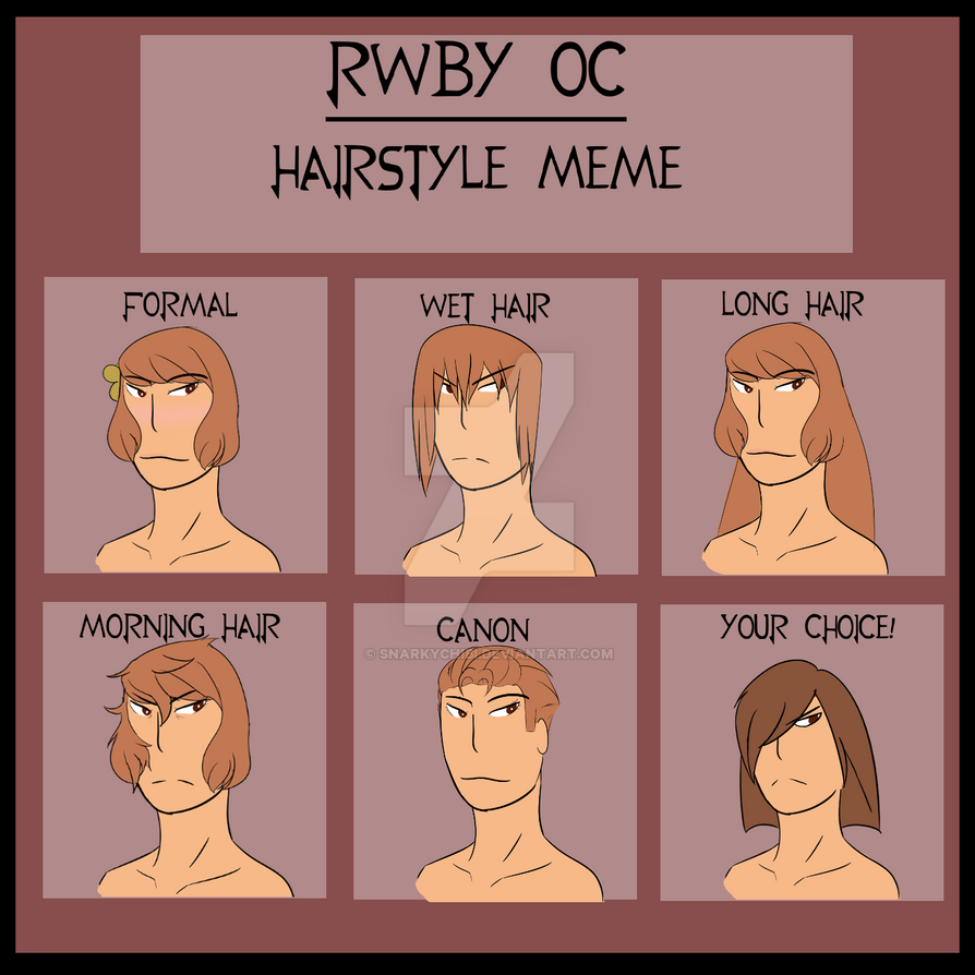 Sienna Hair Meme By Snarkychibi On Deviantart