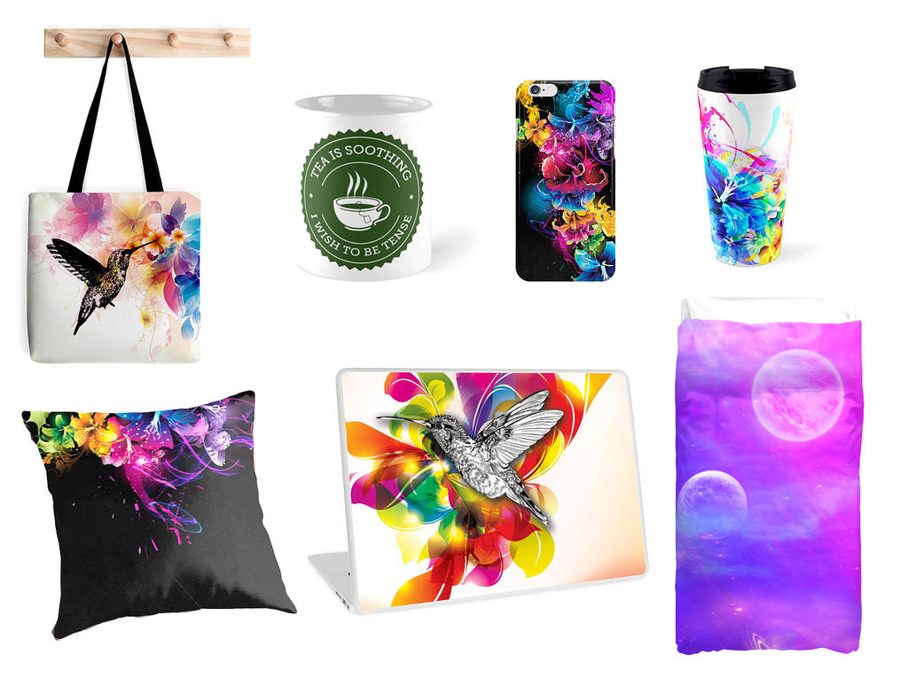 RedBubble Products by dizzyflower28