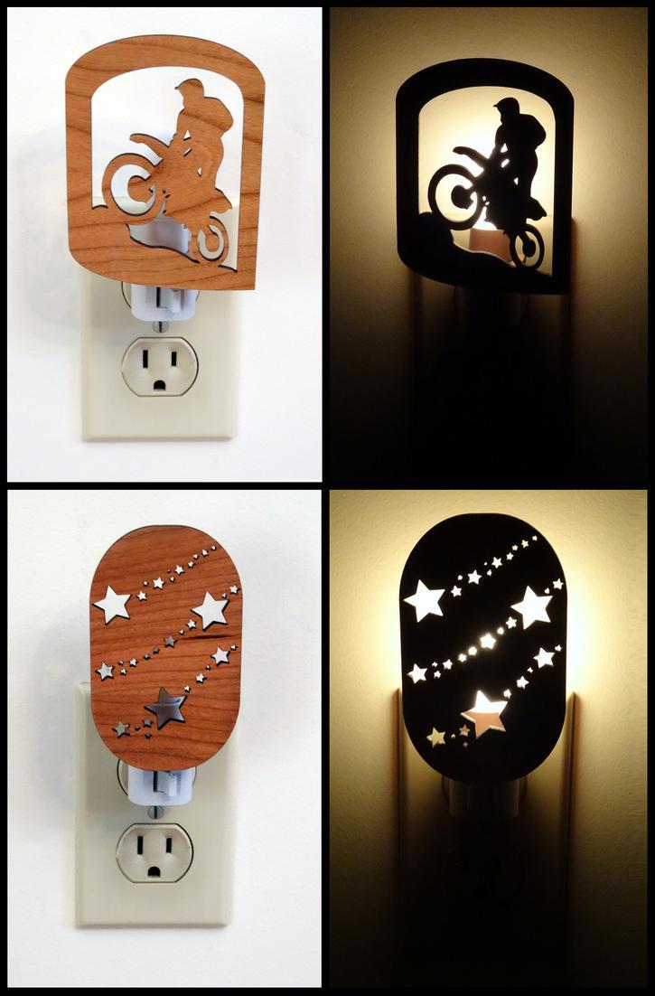 Laser Cut Night Lights by dizzyflower28