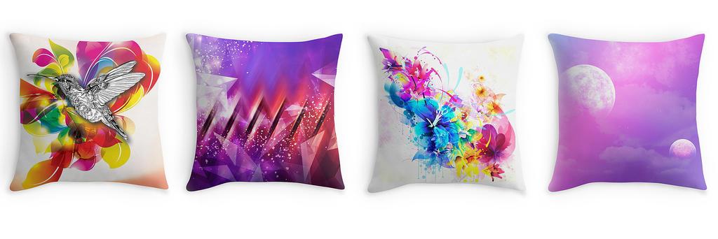 Throw Pillows by dizzyflower28