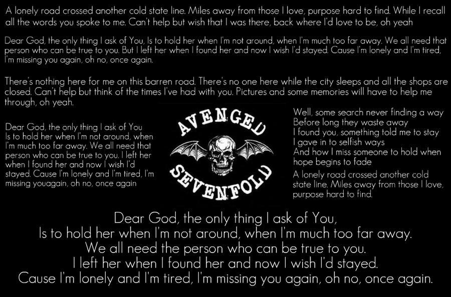 Kata Kata Cinta Mutiara Chords Gitar Dear God Avenged Sevenfold