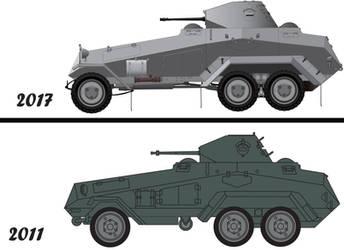 Sdkfz 231 (6-rad) Comparison by billy2345