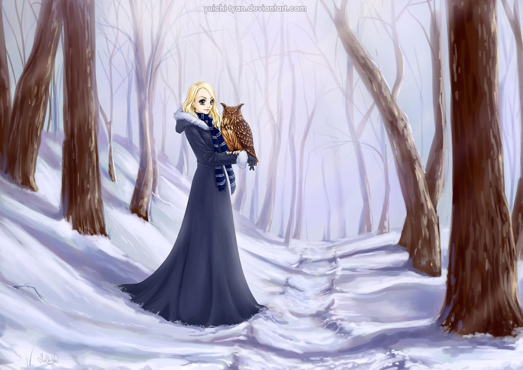 finished YCH Luna Lovegood in Winter forest B by YuiChi-tyan
