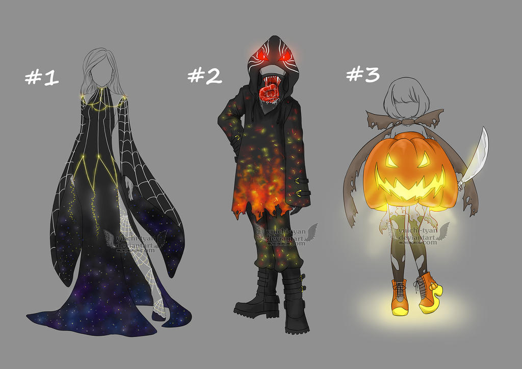 [1/3 Open] Adopt Halloween Outfit by YuiChi-tyan