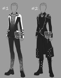 [Closed] Auction BW Outfit men by YuiChi-tyan