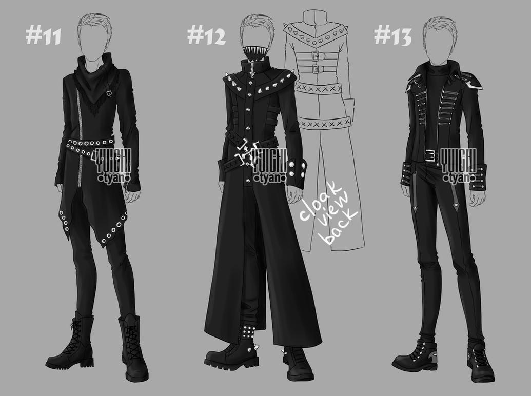 original male outfit drawing