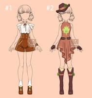 [closed] Auction Outfit kawaii Adopt 3-4 by YuiChi-tyan