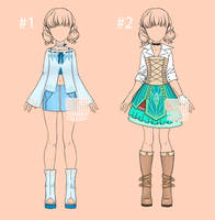 [closed] Auction Outfit kawaii Adopt 5-6 by YuiChi-tyan