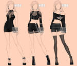 [closed] Auction Outfits famale BW 184-186